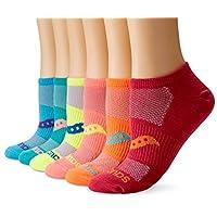 Saucony 女士 6 双装超轻隐形袜