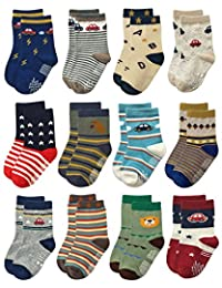 豪华防滑棉质船袜带手柄,适合婴幼儿学步儿童