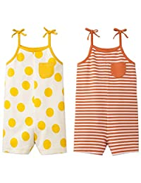 Cat & Jack 女童 2 件装连体衣(黄色/橙色) 2T