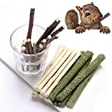 FLOURITHING 3 种组合咀嚼玩具摩尔棒甜竹 Apple Branch Timothy Grass 适用于宠物 Chinchilla 松鼠 Gerbil Hamster 松鼠几内亚猪 300g