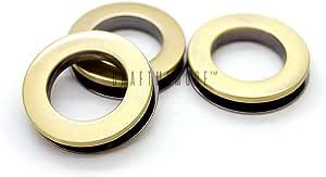 CRAFTMEmore 4 件金属螺钉 O 型环孔圆面平面钱包替换皮革配件 拉丝黄铜 3/4 Inch FSE01