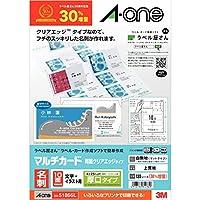 【限时优惠商品】A-one 多种卡片 名片 双面透明边缘 厚 1300张 51866L 标签店30周年纪念商品