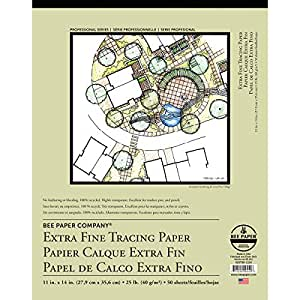 Bee Paper Extra Fine Tracing Pad, 11-Inch by 14-Inch