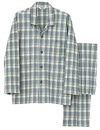 (郡是) GUNZE 男士睡衣 (贴身部分棉*) 长袖长裤贴身侧棉软棉
