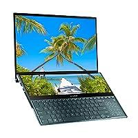 華碩 ZenBook Pro Duo UX581GV 15.6 英寸 4K 雙觸摸屏 Alexa 筆記本電腦(藍色)(英特爾 i7-9750H,512 GB PCI-e SSD,16 GB RAM,NVIDIA GeForce RTX 2060 6 GB 顯卡,Win 10)