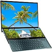 华硕 ZenBook Pro Duo UX581GV 15.6 英寸 4K 双触摸屏 Alexa 笔记本电脑(蓝色)(英特尔 i7-9750H,512 GB PCI-e SSD,16 GB RAM,NVIDIA GeFo