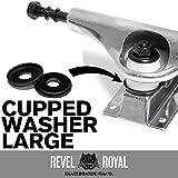 Revel Royal(Revel Royal) 滑板(滑板) 卡车用 杯垫圈 L 黑色 2个装