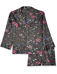 Natori 女式棉缎印花睡衣短裤套装
