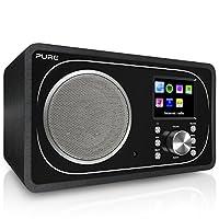 Pure Evoke F3 互聯網,DAB/DAB+ 數字和 FM 收音機,帶 Spotify 連接和藍牙 - 黑色