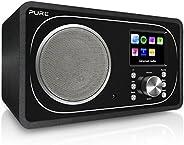 Pure Evoke F3 互联网,DAB/DAB+ 数字和 FM 收音机,带 Spotify 连接和蓝牙 - 黑色