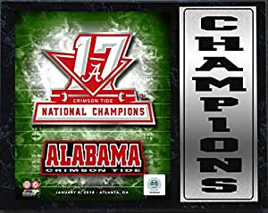Encore 30.48x38.10cm Stat Plaque - 2017 National Champion Alabama Crimson Tide