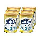 Nestlé雀巢 BEBA贝巴 OPTIPRO 3 婴幼儿奶粉 (10个月以上)可重复密封,辅食 6罐(6 x 800克)(不含助溶剂,冲泡需用力摇,冲后有结晶非品质问题,请放心食用)
