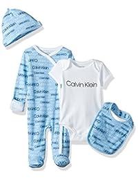 Calvin Klein 婴儿男孩4件礼品套装