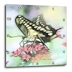 3drose llc 蝴蝶 10 x 10 英寸挂钟