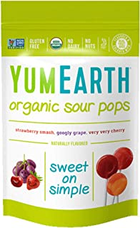 YumEarth 酸甜棒棒糖,3盎司(約85.05克),14根,6件裝