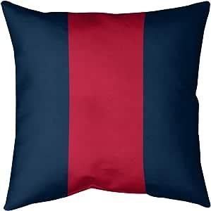 ArtVerse 枕套(无填充物)- 人造亚麻 蓝色和红色 16 x 16 NFS245-SLPG6LC