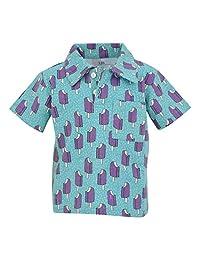 独特的男婴冰棒印花短袖有领 Polo 衫