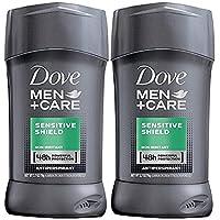 Dove 多芬男士护理止汗膏,敏感防护,2.7 盎司(约 77 克, 2 瓶装)
