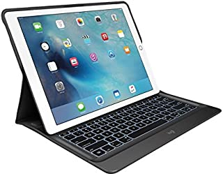Logitech 罗技 920-007797 背光键盘和对开式保护套 适用于苹果 12.9 英寸 iPad Pro - 银色/蓝色