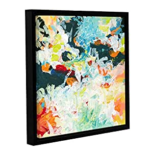 "ArtWall Jan Weiss's Floral Garden 3 Gallery Wrapped Floater-Framed Canvas, 14"" x 14"""