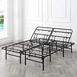 Classic Brands Adjustable Heavy Duty Metal Bed Frame/Mattress Foundation or Box Spring, Queen Size