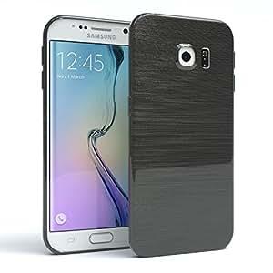 Galaxy S6 Edge 手机壳 - 三星 Galaxy S6 Edge 硅胶缓冲套,减震超薄保护套 - 各种颜色和颜色的智能手机壳380913 dark Gray - Brushed