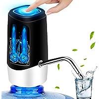 YOMYM 5加侖水泵分配器 USB 充電便攜式電動飲水瓶分配器開關 適用于通用 5加侖(約1.5升)黑色
