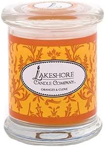 Lakeshore Candle Company 玻璃杯蜡烛 Oranges and Clove 10 盎司 300-26