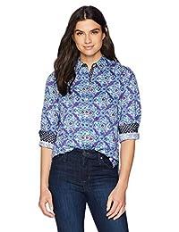 Foxcroft 女式 Ava 水彩*章衬衫