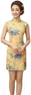 EXCELLANYARD 女式棉质中国旗袍长裙