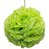 Firefly Imports Flower Kissing Balls Pomander Pom Pom Wedding Centerpiece, Apple Green