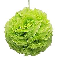 Firefly Imports Flower Kissing Balls Pomander Pom Pom Wedding Centerpiece, Apple Green