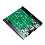 Syba M.2 & mSATA SSD 双接口 SATA III 2.5 英寸外壳组件其他 (SY-ADA40093) SY-ADA40088 Dual M.2 to SATA M.2 B-Key