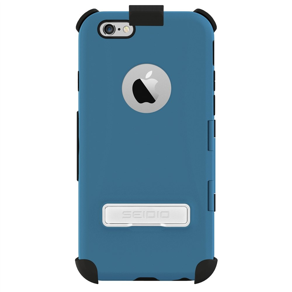 Seidio CAPSA Touchview Case with Metal Kickstand and Holster Combo for use with Apple iPhone 6