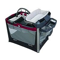 GRACO 葛莱 多功能儿童床 便携儿童音乐游戏床 移动尿布更换台 (红色) 1893415