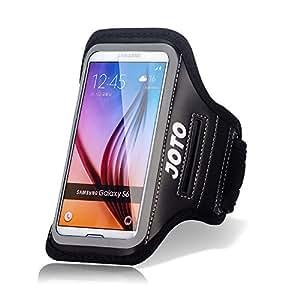 三星 Galaxy S6 / S6 Edge 臂带,JOTO 运动臂章手机壳适用于三星 Galaxy S6 / S6 Edge,带钥匙夹、信用卡/钱架、防汗、运动健身、跑步、锻炼、锻炼 [Galaxy S6 / S6 Edge 运动臂带]NTECeaq Galaxy S6 / S6 Edge 黑色