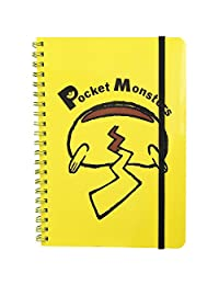 精灵宝可梦 带橡皮筋B6环笔记本 皮卡丘书签 PMST882