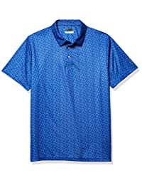 PGA TOUR 男式短袖全身迷你印花 Polo 衫