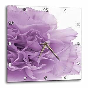3dRose dpp_20615_3 Delicate Purple Grey Flower-Wall Clock, 15 by 15-Inch