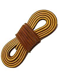 TOFL Logger 皮革靴带-一对和一双 3 皮革靴带,每 137.16 厘米长,棕褐色