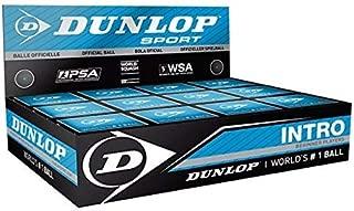 Dunlop Intro Blue Ball Squash 球适合初学者(盒装12只球)