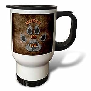 3dRose Doggie Treats Travel Mug, 14-Ounce, Stainless Steel