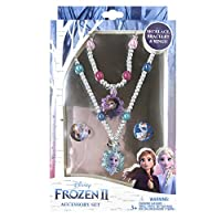 Luv Her Frozen 2 女孩公主玩具珠宝盒套装带 2 个环,1 个串珠手链和 1 颗珠项链