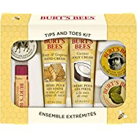 Burt's Bees 手足护理套装 旅行装天然产品礼盒,含2个护手霜、护足霜、角质层霜、护手膏和唇膏
