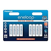Panasonic 松下 Eneloop AA 1900mAh Eneloop NiMH 即用充电电池 BK-3MCCE(8节经典款电池)