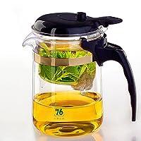 易信 台湾76按压式茶壶加厚耐高温玻璃杯飘逸杯带过滤网自动泡茶煮茶器 (L2-D370)