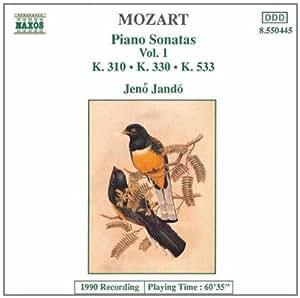 进口CD:钢琴奏鸣曲集(第1辑)(No.310.330.和533) Mozart:Piano Sonatas,Vol.1(Piano Sonatas Nos.8,10 and)(CD)8.550445