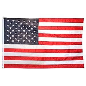 US Flag Store SuperStream 刺绣尼龙美国国旗 4 到 6 英尺