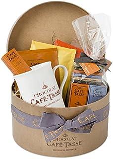 Cafe Tasse Hamper in Round Hat Box 305 g