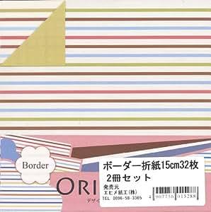 艾喜美纸工 图案双面画布 2冊組 横条纹
